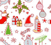 Xmas objects seamless pattern Royalty Free Stock Photography