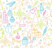 Xmas objects seamless pattern Stock Images