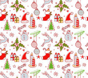 Xmas objects seamless pattern Royalty Free Stock Image