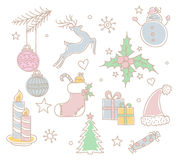 Xmas objects set Royalty Free Stock Images