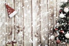 Xmas och snö arkivfoton