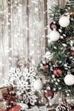 Xmas och snö royaltyfria bilder