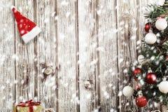 Xmas och snö royaltyfria foton