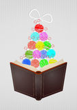 Xmas open book Stock Photo