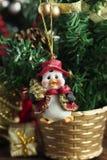Xmas ornament Bożenarodzeniowy pingwin dekoracja nowego roku Obrazy Royalty Free