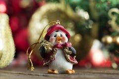 Xmas ornament Bożenarodzeniowy pingwin dekoracja nowego roku Obraz Stock
