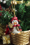 Xmas ornament.Christmas penguin.new Year decoration. Royalty Free Stock Images