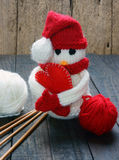 Xmas ornament, handmade, christmas, snowman Royalty Free Stock Photo