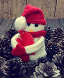 Xmas ornament, handmade, christmas, snowman Royalty Free Stock Images