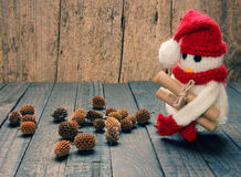 Xmas ornament, handmade, christmas, snowman Stock Photography