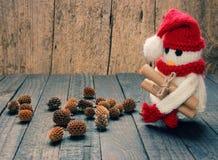 Xmas ornament, handmade, christmas, snowman Stock Photography