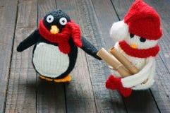 Xmas ornament, handmade, christmas, snowman Stock Images