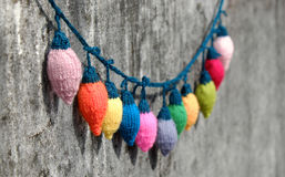 Free Xmas Ornament, Knitted Christmas Lights Royalty Free Stock Image - 71842766
