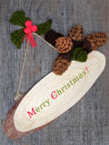 Xmas ornament, knitted Christmas pinecone Stock Image