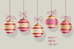 Xmas ornamented bauble vector illustration. Stock Photos
