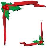 Xmas Ornaments. Christmas Ornaments with red ribbon Illustration Stock Photo