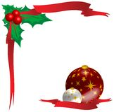 Xmas Ornaments. Christmas Ornaments with red ribbon Illustration Stock Image