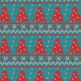 Xmas ornaments - seamless knitted background Stock Photo