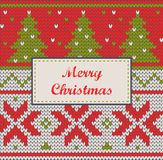 Xmas ornaments - seamless knitted background Royalty Free Stock Images