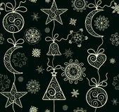 Xmas ornate background. With vintage pattern Royalty Free Stock Photography