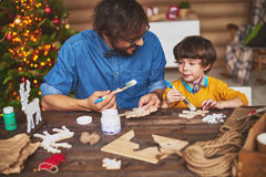 Xmas painting Stock Images