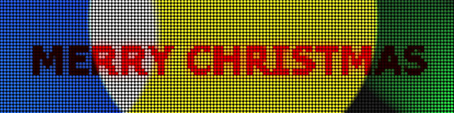 Xmas panel colored leds. Electronic panel with lights for xmas vector illustration