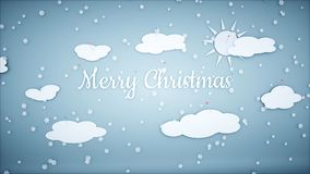 Xmas paper background. Happy new year and xmas background. Snowfall. 3d rendering. Stock Images