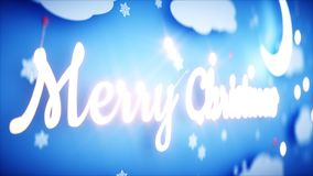 Xmas paper background. Happy new year and xmas background. Snowfall. 3d rendering. Royalty Free Stock Photo