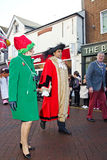 Xmas parade dignitaries Stock Photo
