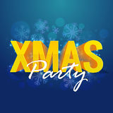 Xmas Party Poster, Banner or Flyer design. Royalty Free Stock Image