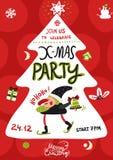 Xmas Party Poster royalty free illustration