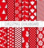 Xmas pattern paper red Royalty Free Stock Image