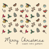 Xmas pattern Royalty Free Stock Photography