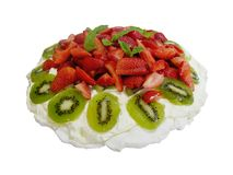 Xmas Pavlova 1 Stock Photos