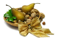 Xmas Pears Royalty Free Stock Image
