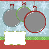 Xmas photo frame Royalty Free Stock Photo