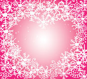 Xmas pink heart Stock Photography
