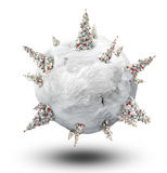 Xmas planet Royalty Free Stock Photos