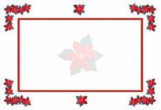 xmas poinsettia рамки Стоковые Изображения RF