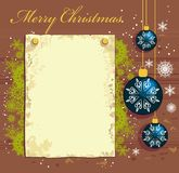 Xmas postcard Royalty Free Stock Photography