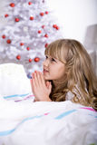 Xmas praying Royalty Free Stock Image