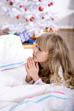 Xmas praying Royalty Free Stock Photo