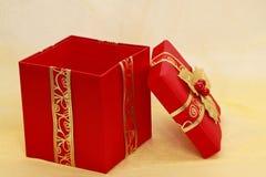 Xmas present box Stock Photo