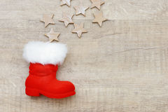 Xmas present and Christmas boots Stock Photos