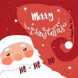 Xmas printable. Santa Royalty Free Stock Images