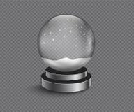 Xmas pusta śnieżna kula ziemska ilustracja wektor