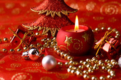 Xmas red background Stock Images