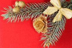 Xmas Red Background Stock Photography