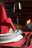 Xmas in red and black Royalty Free Stock Image