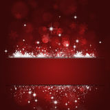 Xmas Red Cut Background Stock Photo